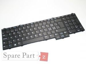 DELL Latitude E5580 UK QWERTY Keyboard Tastatur Backlit FP37Y