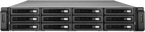 QNAP TS-1279U-RP 1x i3-2120 2x PSU 8x LFF NAS STORAGE ENCLOSURE 4x 3TB HDD