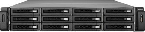 QNAP TS-1279U-RP 1x i3-2120 2x PSU 8x LFF NAS STORAGE ENCLOSURE 12 Caddies