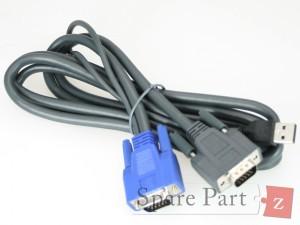 VGA Projektor Kabel KVM mit USB schwarz M1VGAUSB6