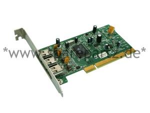Tekrams PCI FireWire Controller V.2.2 3 Port 100/200/40