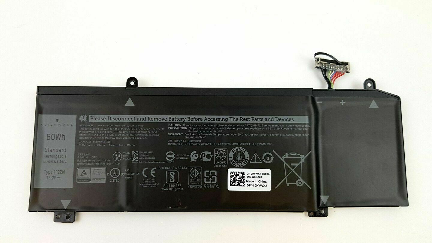 Original Dell G7 17 7790 Alienware m15  60Wh Akku Battery 1F22N