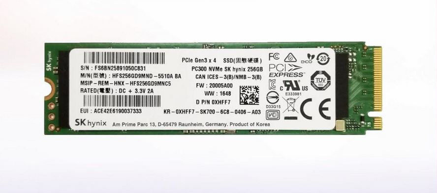DELL 256GB SSD M.2 PCIe NVMe 6Gbps Drive - Class 40 D26WH