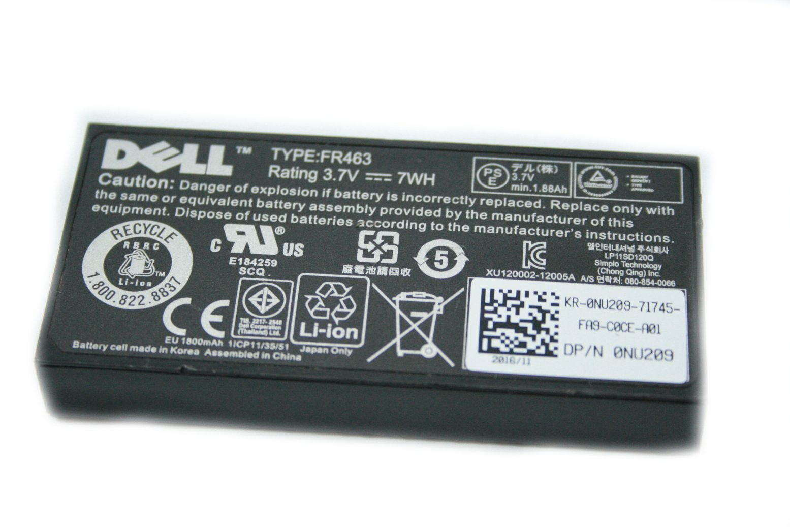 DELL PERC 5i 6i Akku Batterie Battery BBU Poweredge NU209