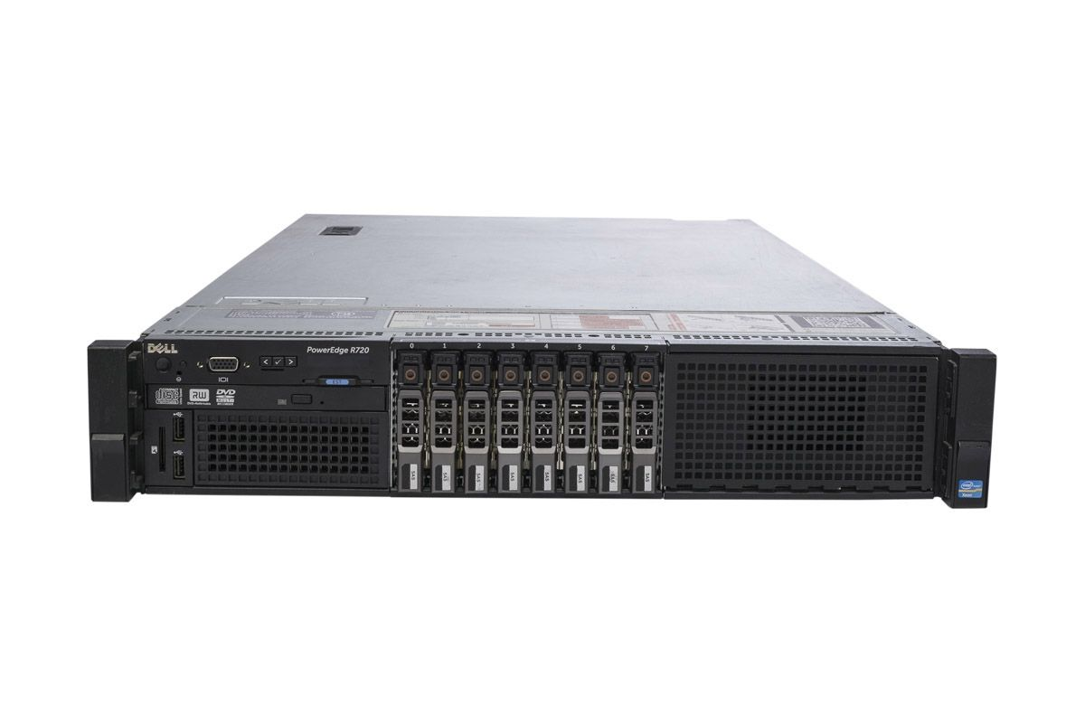Dell PowerEdge R720 2 x E5-2690 2.9GHz 8-Core, 64GB, 8 x 300GB 15k