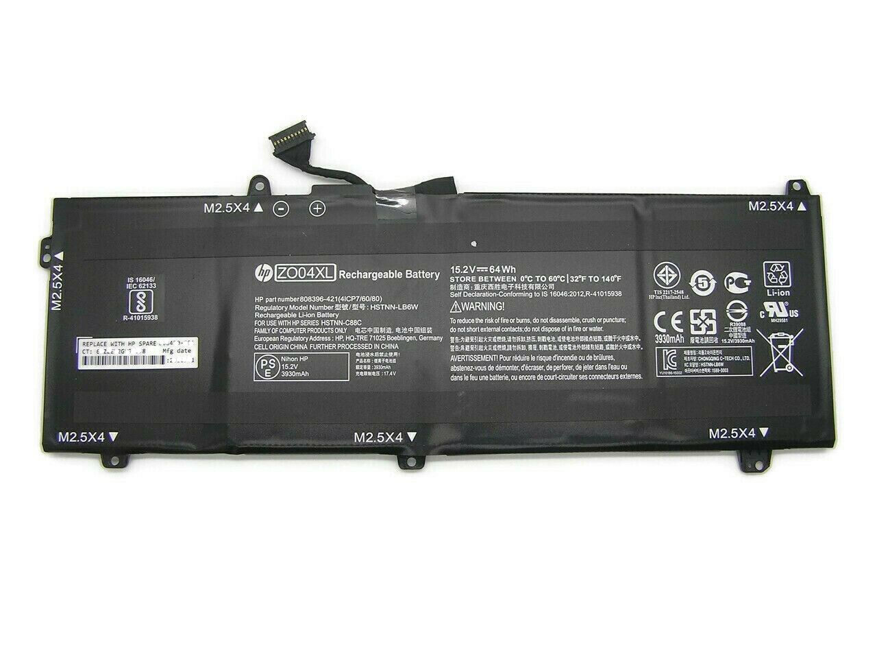 New Genuine HP ZBook Studio G3 G4 Series 15.2V 64Wh Battery